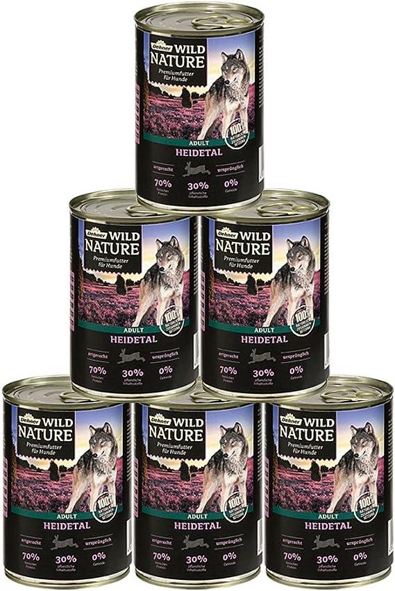 Dehner Wild Nature - Pienso para Perros Adultos Heidetal, 6 x 400 g (2,4 kg)