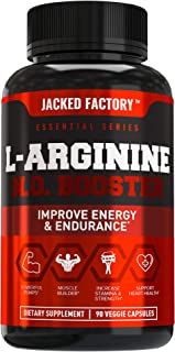 L Arginine 1500mg Patented Nitrosigine - Extra Strength L-Arginine Nitric Oxide (NO) Booster Pre Workout Supplement for Mu...