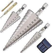 flintronic Hss Trapboor, Zeskantschachtboorset, Professionele Trapboor 3-Delig 4-12 / 4-20 / 4-32Mm Voor Metaal, Messing, ...