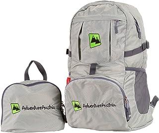 Mochila Plegable Ligera 35L Plegable Backpack - para Senderismo, Ciclismo, Viajes y Actividades al Aire Libre. Bolsa de Viaje Nylon Impermeable. Ajustable y Reflectante. (Gris)