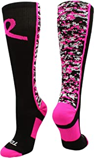 TCK Digital Camo Aware Over The Calf Socks Pink Ribbon Softball Soccer Football