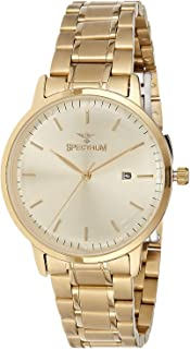 Spectrum Women's Gold Dial Stainless Steel Band Watch - 25157L-1