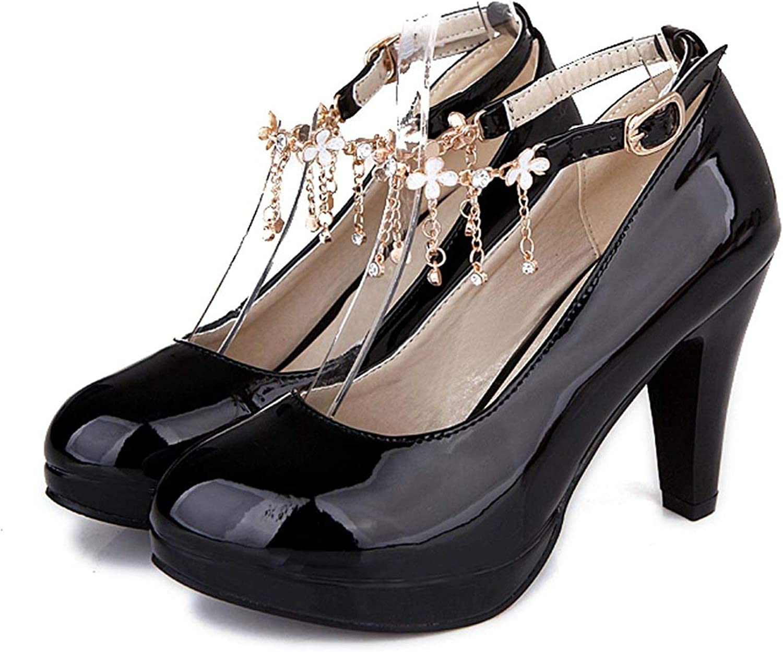 FINDYOU Wedding Bridal shoes Ankle Strap Women Pumps Platform Ultra High Heels s Pink Red White