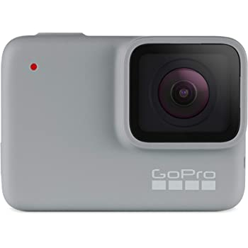 GoPro HERO7 White - E-Commerce Packaging - Waterproof Digital Action Camera with Touch Screen 1080p HD Video 10MP Photos Live Streaming Stabilization