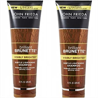 John Frieda Brilliant Brunette Subtle Lightening Shampoo, Visibly Brighter 8.30 oz (Pack of 2)