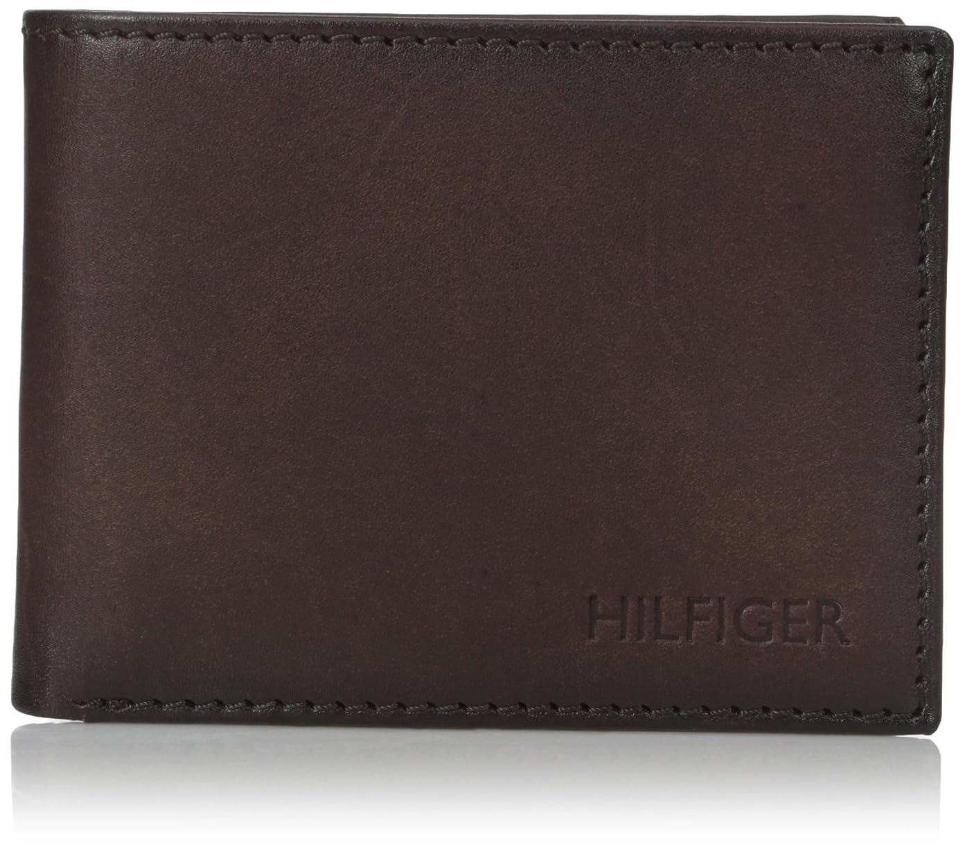船尾家主角度トミーヒルフィガーメンズBergenパスケース付きBillfold Wallet