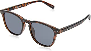 Local Supply Men's CITY Polarized Sunglasses - Dark Grey Tint Lens, Polished Tortoiseshell Frames
