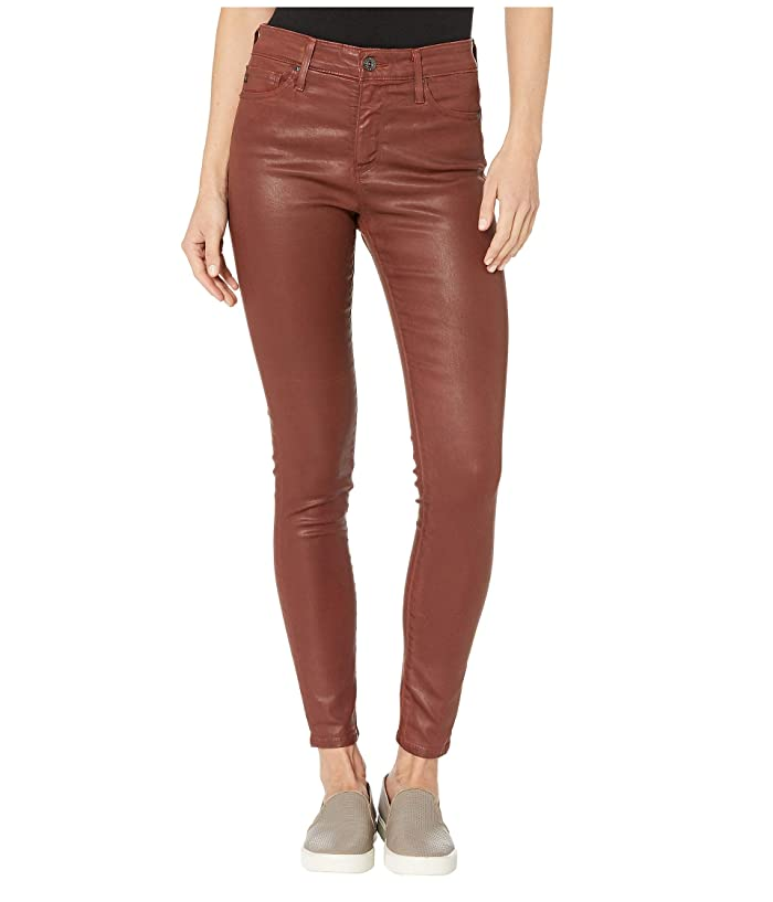 AG Adriano Goldschmied  Farrah Skinny Ankle in Vintage Leatherette Light Rich Crimson (Vintage Leatherette Light Rich Crimson) Womens Casual Pants