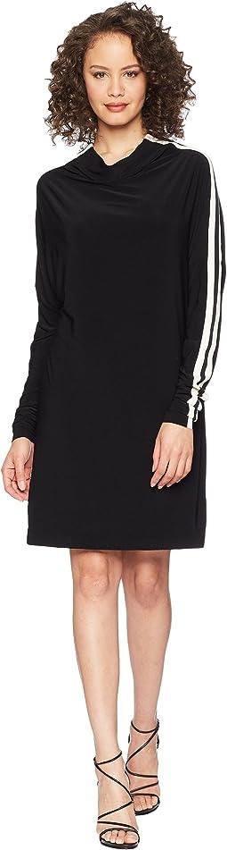 KAMALIKULTURE by Norma Kamali Side Stripe All-In-One Dress