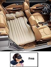 HSR Car Travel Inflatable Car Bed Mattress with Two Air Pillows, Car Air Pump and Repair Kit (Multicolor)