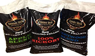 Lumber Jack LJACK-Mix 60 Pounds Pellet Assortment (Pick 3 x 20 Pound Bags), Brown