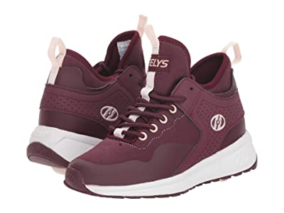 Heelys Piper (Little Kid/Big Kid/Adult) (Burgundy/White) Girls Shoes
