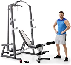 Marcy Home Gym Fitness Deluxe Cage System Machine with Weight Lifting Bench PM-5108