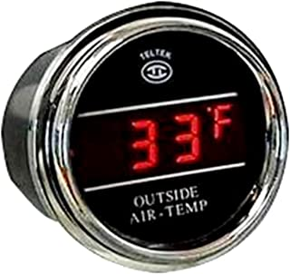 Auto Thermometer Gauge for Kenworth 2005 or previous - Bezel: Chrome - LED Color: Red