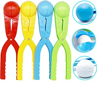 SupMLC Snowball Maker 4 Pack Snow Toys for KidsSnow Ball Fights Kids Winter Outdoor Toys Snow Ball Clip Snow Games for Kids