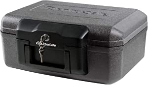 SentrySafe Fire Safe, Fire Resistant Chest, 0.18 Cubic Feet, Extra Small, 1210