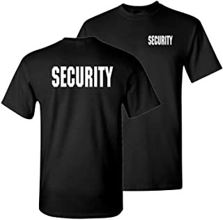 c243a1c4d1a749 The Goozler Security Silkscreen Front   Back - Mens Cotton T-Shirt