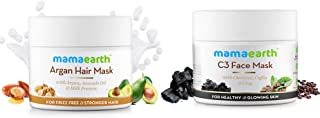 Mamaearth Argan Hairfall Control Mask 200ml + Charcoal, Coffee and Clay Face Mask 100ml
