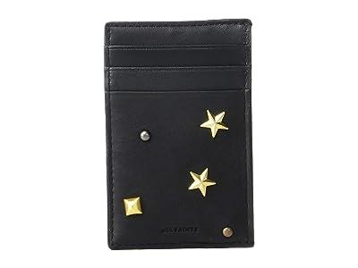AllSaints Mazzy Card Case (Black) Handbags