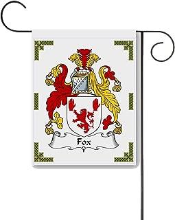 Carpe Diem Designs Fox Coat of Arms/Fox Family Crest 11 X 15 Garden Flag – Made in the U.S.A.