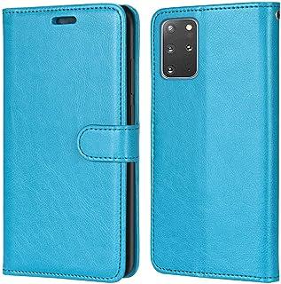 Laybomo Carcasa para Samsung Galaxy S20+ Tapa Funda Cuero Estilo-Sencillo Monederos Billetera Bolsa Magnética Protector Si...