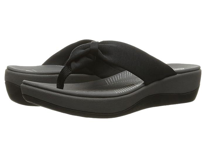 Clarks  Arla Glison (Black Heather Fabric) Womens Sandals