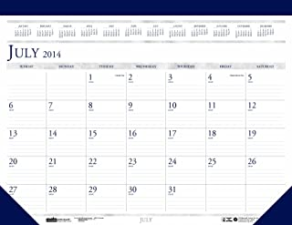 House of Doolittle Academic Desk Pad Calendar July 2014 to August 2015, 22 x 17 Inches Leatherette Top Strip and Matching Corners Recycled Materials (HOD155HD)