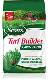 مواد غذایی چمن سازی Scotts Turf Builder، 12.5 lb. - غذاهای کود چمن و تقویت چمن برای محافظت در برابر مشکلات آینده - ریشه های عمیق را بسازید - به هر نوع چمن زنی بپوشانید - سرپوش 5،000 فوت مربع.