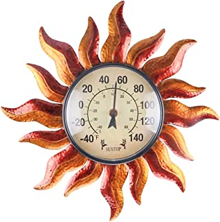 MUMTOP Thermometer Indoor Outdoor Sun Wall-Mounted Thermometer Does not Require Any Battery