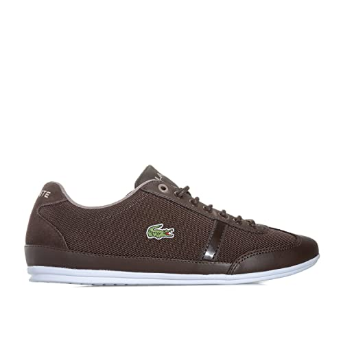 d578103b0ae6e8 Lacoste Mens Misano Sport 417 1 Jd Cam Trainers in Dk Brown
