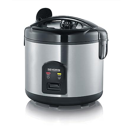 SEVERIN Cuiseur vapeur avec fonction de maintien au chaud, Verre doseur et cuillère à riz inclus, 650 W, RK 2425