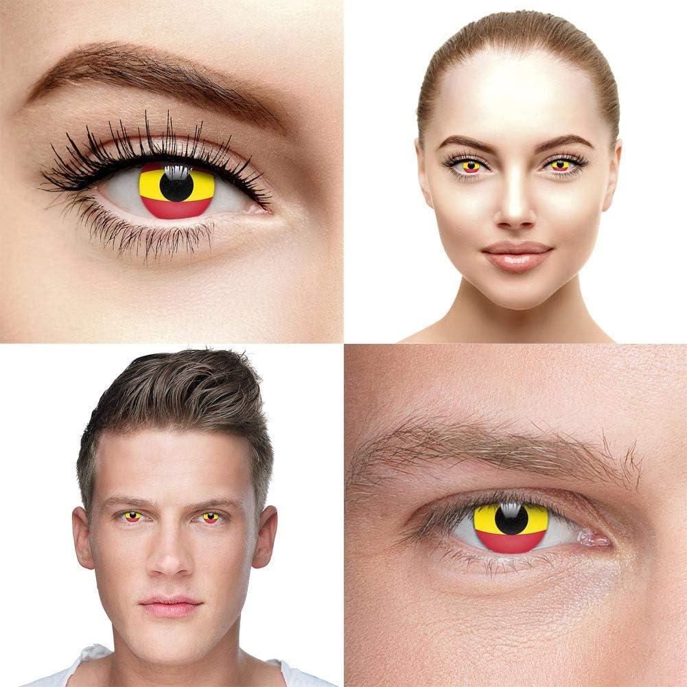 Spain Flag Coloured Contact Lenses 20 Days  Amazon.de Health ...