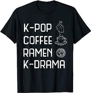 K-Pop Coffee Ramen K-Drama Funny Korean Fashion Shirt