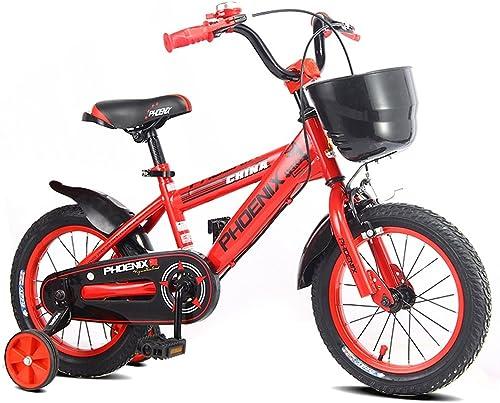Li jing home Kinderfürr r stilvolle Jungen und mädchen Kinderfürr r 16 14 12 18 Zoll Kinderwagen individuelle Kinder Dreirad (rot)