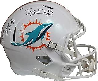 Mark Clayton & Mark Duper Autographed Miami Dolphins White Riddell Speed Replica Full Size Helmet w/Tristar COA