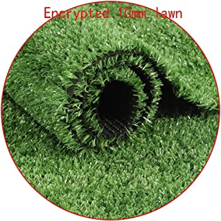 XEWNEG Encryption Artificial Grass 10mm Kindergarten Simulation Lawn, Outdoor Carpet Turf Plastic Fake Lawn Balcony Garden...