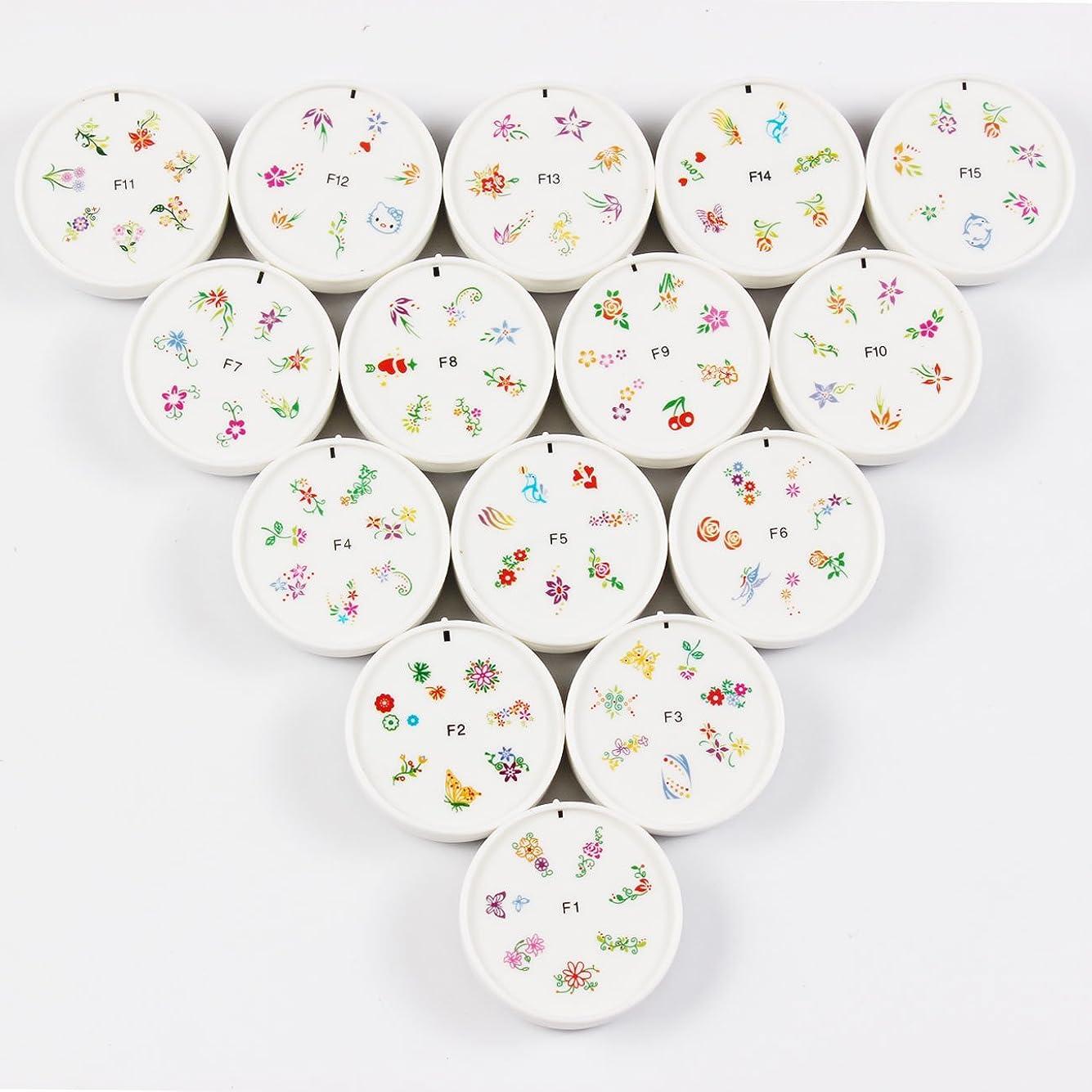 シャワー避難する子音FingerAngel ネイルイスタンプセット 15枚 ホワイト ネイルスタンパー ゴム プラスチック ネイルアート