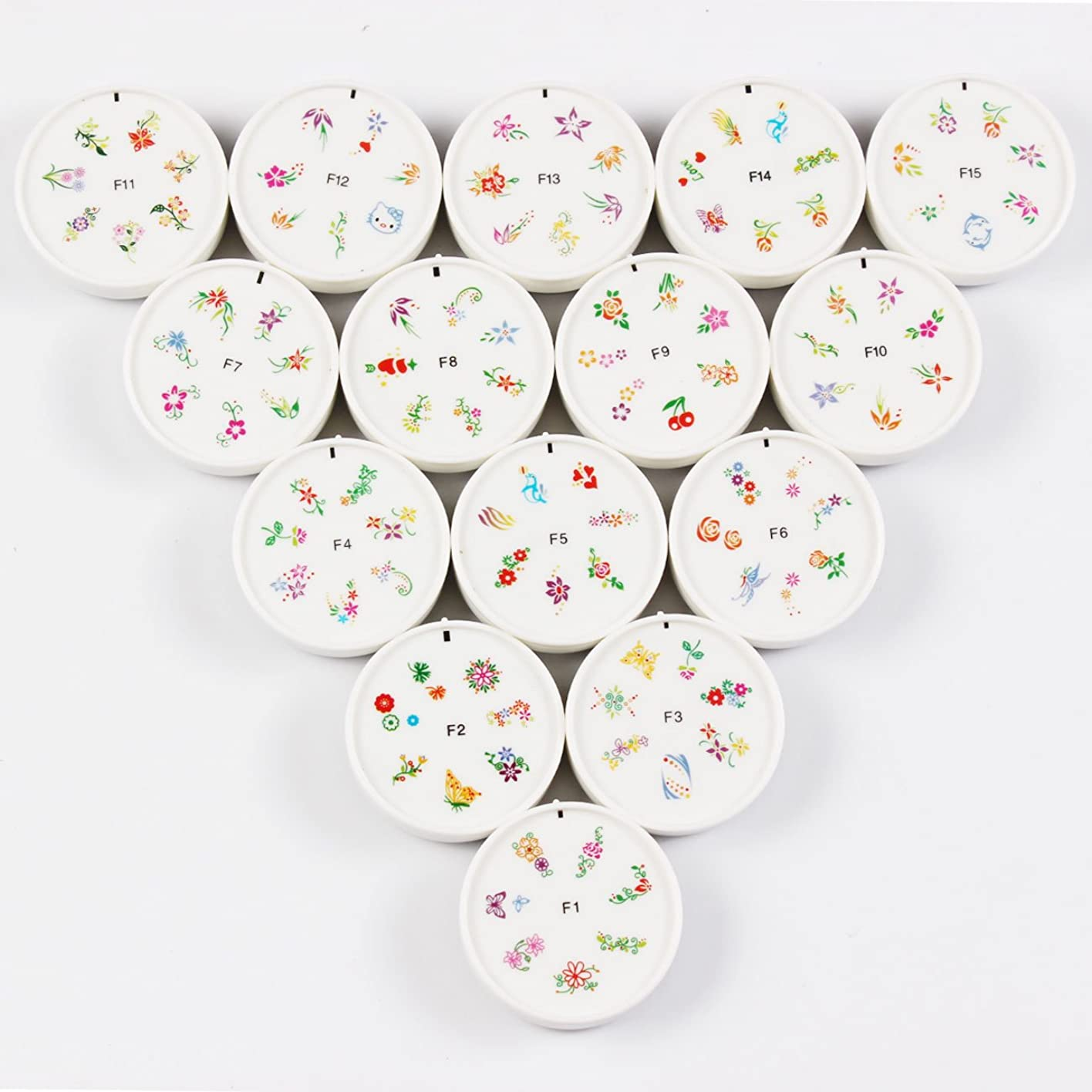 画家弓助言FingerAngel ネイルイスタンプセット 15枚 ホワイト ネイルスタンパー ゴム プラスチック ネイルアート