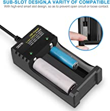 OSTRI Li-ion Battery Charger 18650,Smart Universal 3.7 v Lithium-ion Rechargeable Battery Charger for Button or Flat Top AA AAA 26650 18500 18350 17670 16340 14500 10440 with USB Charging Cable
