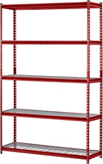 Groovy Amazon Com Red Standing Shelf Units Racks Shelves Interior Design Ideas Clesiryabchikinfo