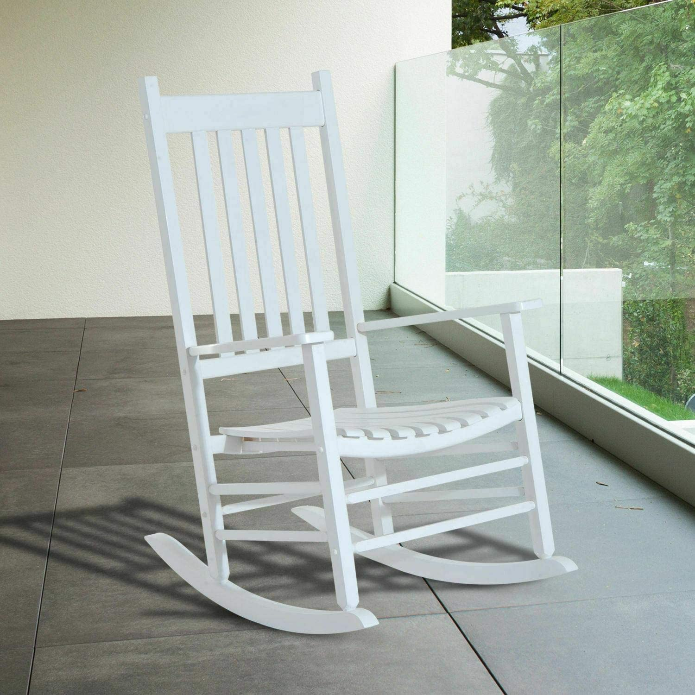 Wooden Rocking Chair Porch Balcony mart Garden S Outdoor Deck 2021