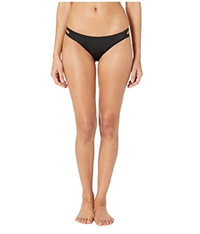 RVCA Solid Full Tab Side Bottoms (Black) Women