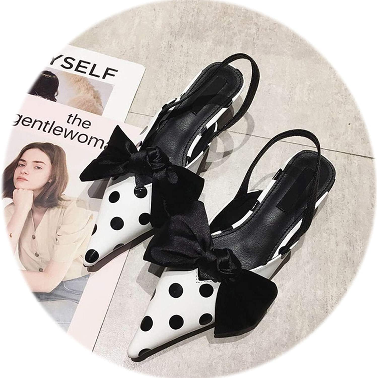 Gooding life High Heels Women Pumps Bowtie Slingbacks Ladies shoes Kitten Heel Women Mules Valentine shoes Women
