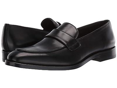 Canali Contrast Trim Loafer (Black) Men