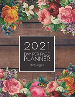 2021 Day Per Page Planner with 372 Pages: Pocket Size Diary, Organiser & Appointment Book