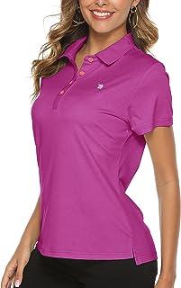 YSENTO Women Golf Shirts Collared Moisture Wicking Short Sleeve Athletic Gym Workout Shirts