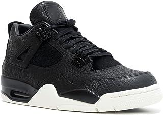 new product 8bb52 73cbe Nike Mens Air Jordan 4 Retro Premium Pinnacle Black Sail Leather