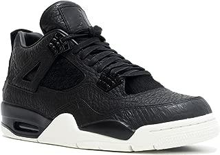 Mens Air Jordan 4 Retro Premium Pinnacle Black/Sail Leather