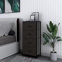 HOMOKUS 4 Drawer Vertical Dresser, Fabric Dressers for Bedrooms, Closet Organizer and Storage, for Bedroom, Hallway - Stee...