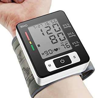 Blood Pressure Monitor, Portable Home Care Electronic Blood Pressure Watch with Wristband Automatic Wrist Electronic Blood Pressure Monitor Perfect for Health Monitoring